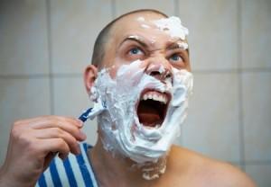 הסרת שיער בגילוח לגבר
